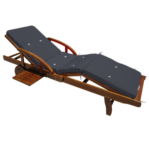 Sun Lounger Cushion Tami Sun Anthracite 195x55x5cm