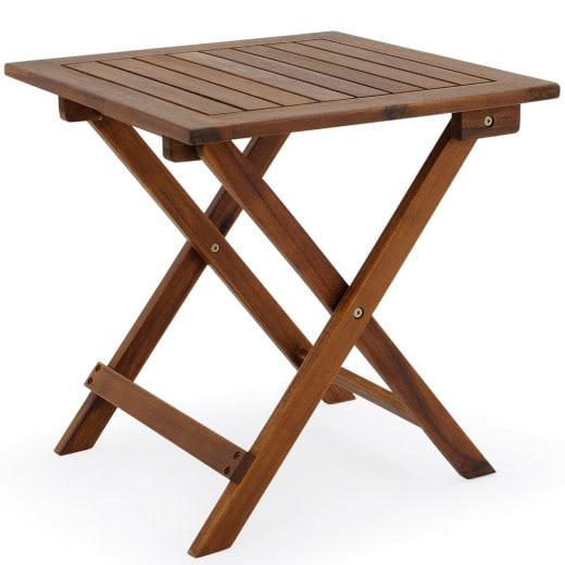 Garden Table Acacia Wood 1.5x1.5ft Foldable