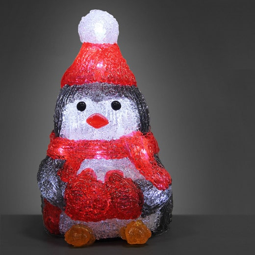 LED Christmas Figure Acryl Penguin