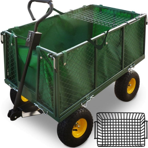 Garden Trolley Green 3.7x1.7x3.4ft incl. Tarpaulin