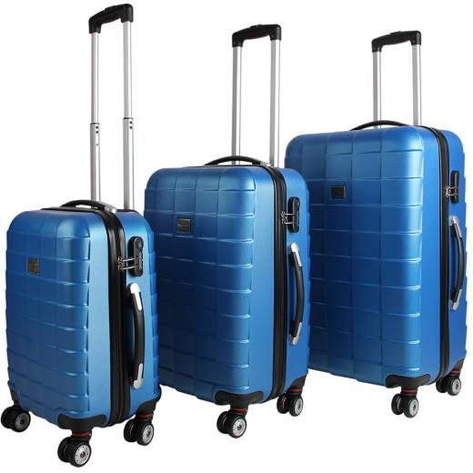 Hardshell Luggage 3 Pieces Blue M L XL