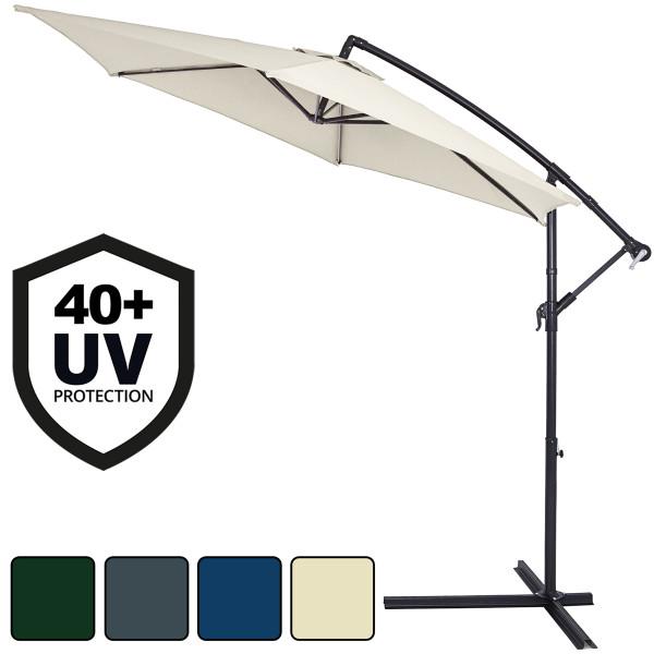Hanging Sun Parasol Green - 3.5m UV Protection 40