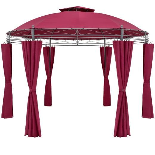 Pavillon Toscana Rot Ø3,5m UV-Schutz 50+