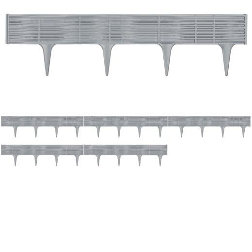Lawn Edge Bed Frame Set 15,6m Grey