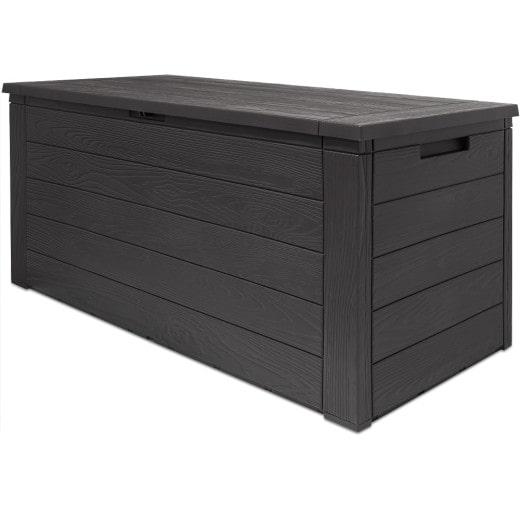 Garden Storage Box Wood Effect 3.9x1.5x1.9ft