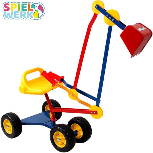 Metal Ride-On Excavator with flexible Excavator Shovel and Wheels 360° Rotatable