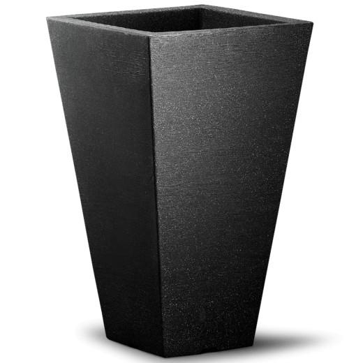 Topf 'Capri' quadratisch 35x35x55 cm anthrazit