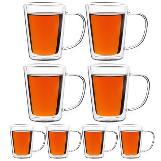 Tea Glasses 250ml Double Walled - Set of 8