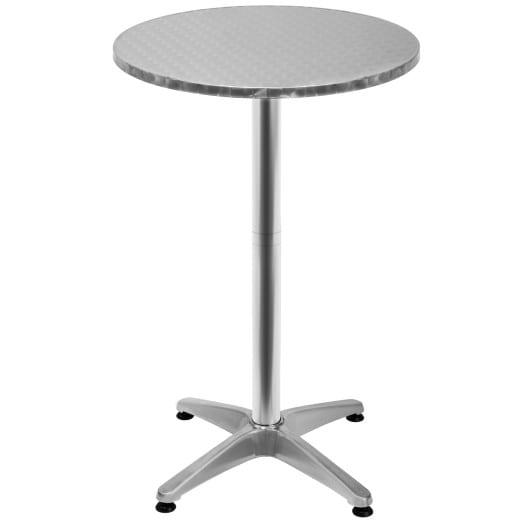 Aluminium High Table in Silver
