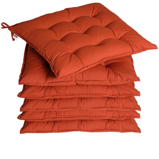 Garden Chair Cushion Cozy 6Pcs Terracotta