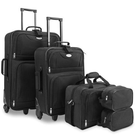 Suitcase Trolley Travel Set 5 pieces