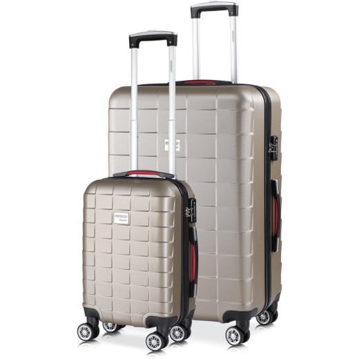 Monzana Suitcase Set Exopack 105L 40L M and XL Champagne