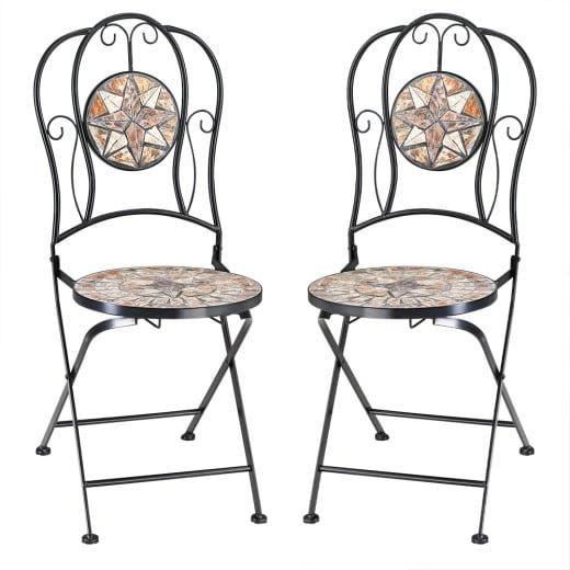 "Mosaic Bistro Chair Set of 2 ""Barcelona"""