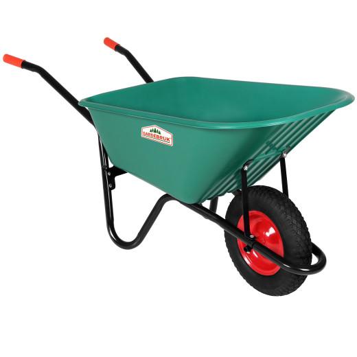 Wheelbarrow Polypropylene Green 100L 150kg