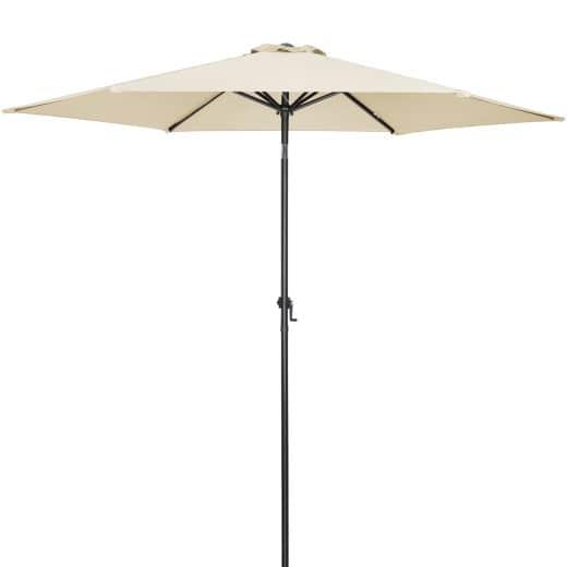 Parasol Beige 3m Crank & Tilt UV-Protection 50+