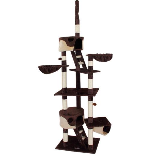 Kratzbaum deckenhoch 240 - 260 cm Braun