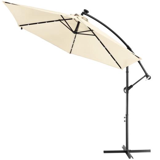 LED Solar Parasol Haiti Cream 300cm