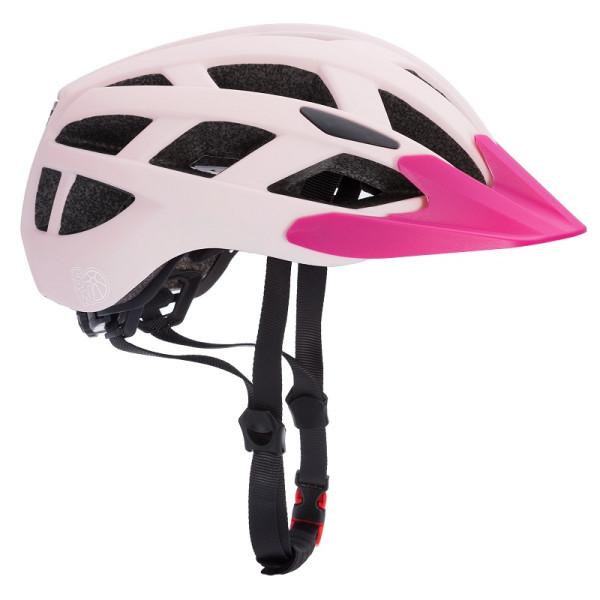 Kids Bike Helmet Light Pink Size M with Warning Light