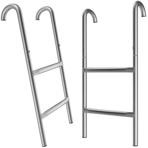 Trampoline Ladder 61.5 cm 2 Steps Metal Universal Fit