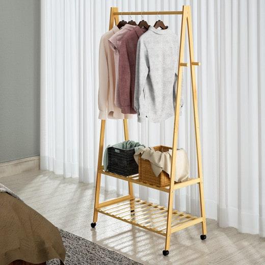 Clothes Rack Bamboo 152x70x43cm