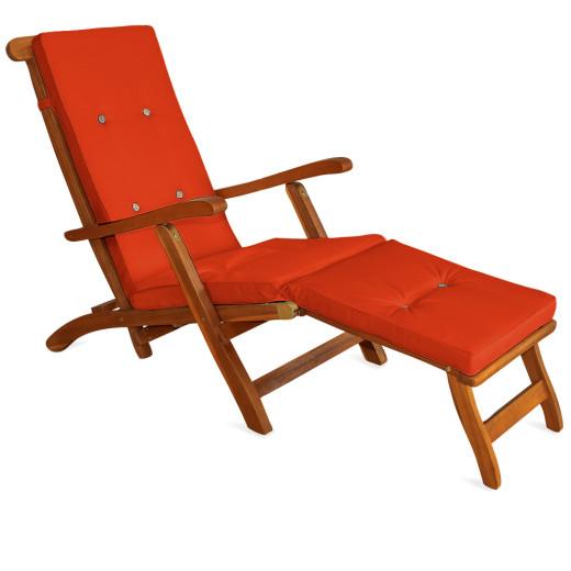Sun Lounger Cushion Orange 173x43x6cm