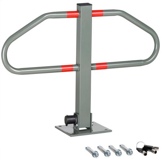 Parking Space Barrier 2 Keys Folding Integrated Lock Steel