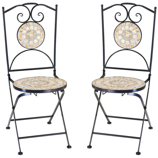 "Mosaic Bistro Chair Set of 2 ""Bilbao"""