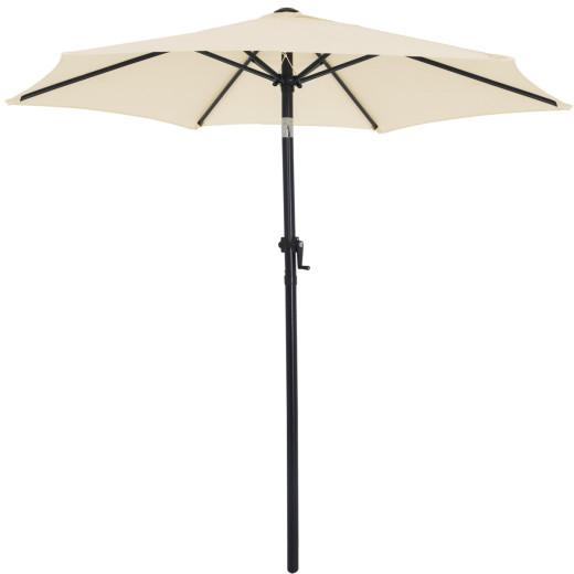 Garden Sun Parasol 2m Beige UV Protection 40