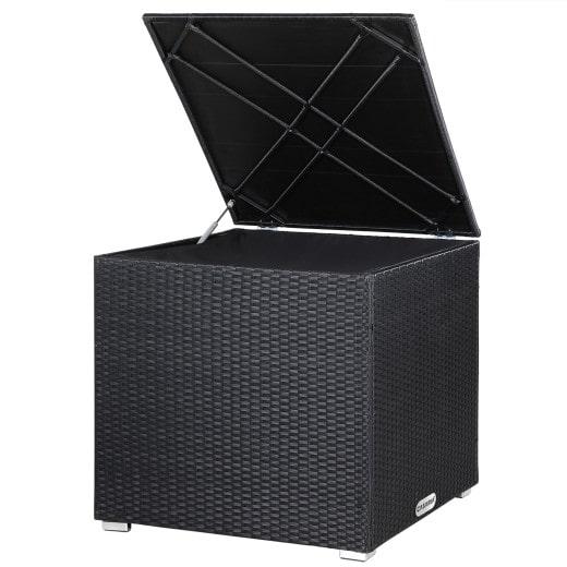 Polyrattan Auflagenbox Schwarz 75x75x70cm
