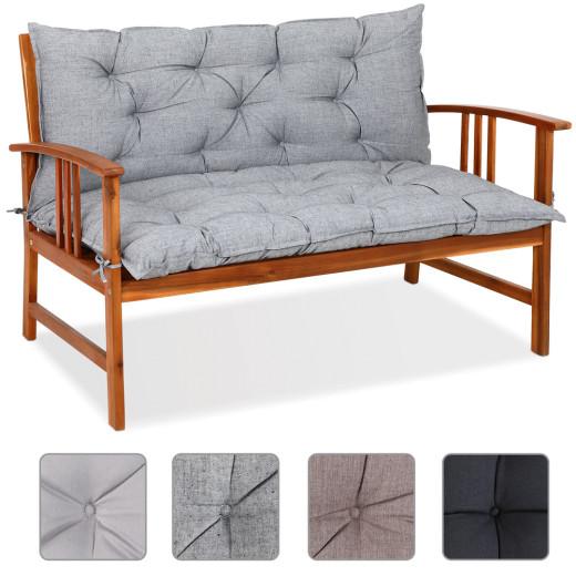 Detex Bench Cushion Seat Pad 100x110x9cm Visco Effect Indoor Outdoor Back Rest
