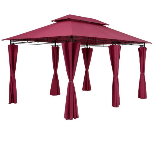 Pavillon Topas Rot 3x4m UV-Schutz 50+