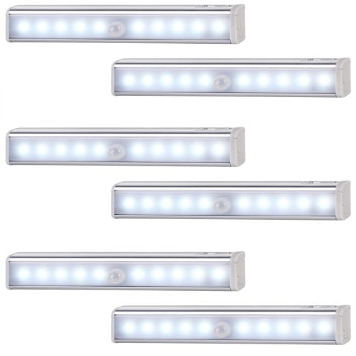 LED Lichtleiste 6er-Set Estelar mit Bewegungsmelder
