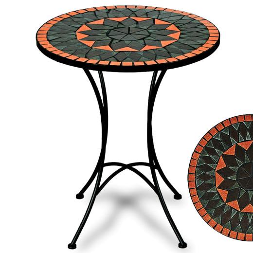 Mosaic Garden Table Terracotta