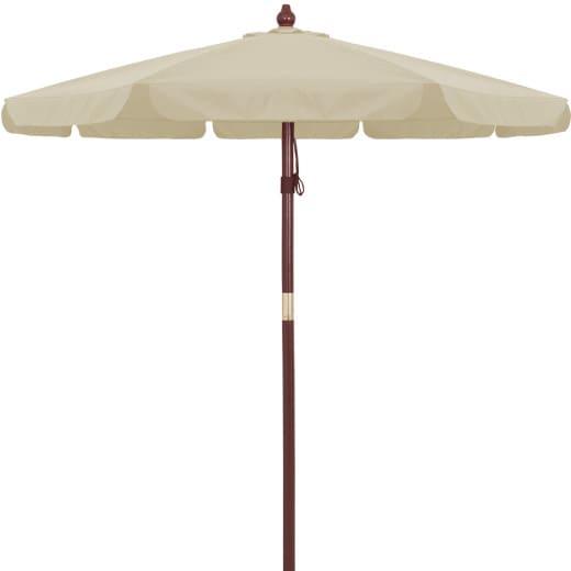 Garden Sun Parasol Wooden 3.3m Beige Cream - 40 UV Protection
