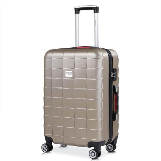 Monzana Suitcase Exopack Champagne L
