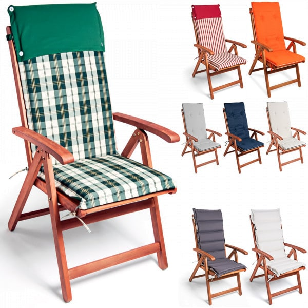 6x Chair Cushion Vanamo with simple Cream Linking