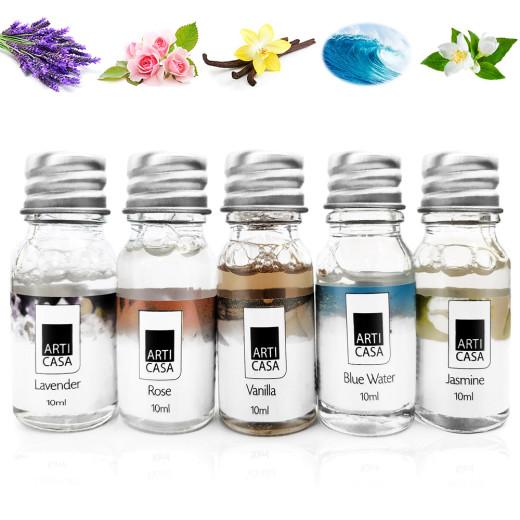 5 x 10 ml Fragrance Oil Lavender Ocean Jasmin Rose Vanilla
