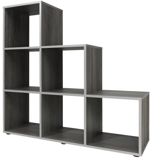 Bookcase Storage Shelf Silver Oak Type 10