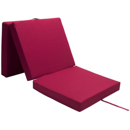Folding Mattress Guests Camping Dark Red 190 x 70 x 10 cm