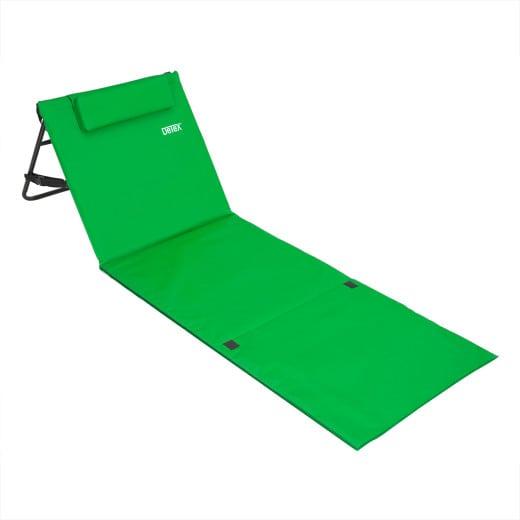 Beach Mat with Backrest Green 158x56cm