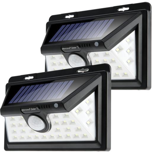 Solar Wandleuchte 2er-Set mit Bewegungsmelder 34 LEDs