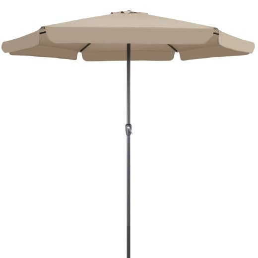 Sonnenschirm Taupe Ø330cm UV-Schutz 50+