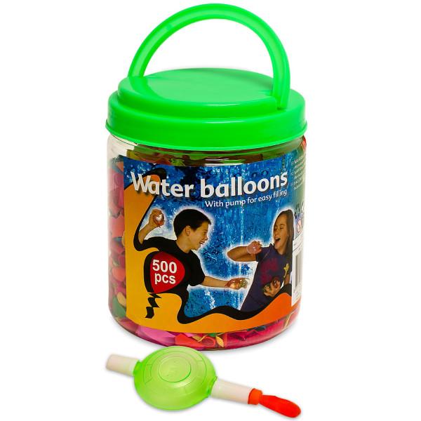 500 Stück Wasserbomben mit Pumpe