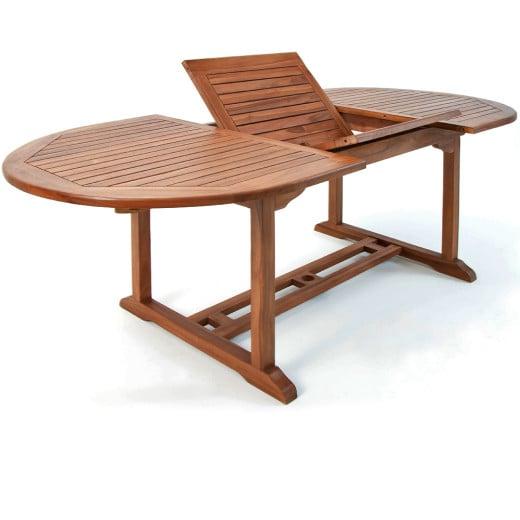 "Extendable Wooden Garden Table ""Vanamo"" made of Eucalyptus Wood"