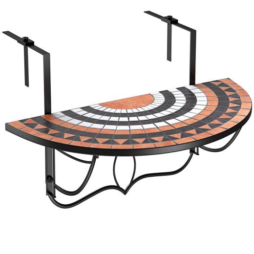 "Foldable Balcony Hanging Table ""Roman Sun"" Mosaic"